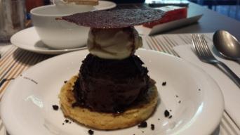 Bourriol au chocolat d'une recette de Michel Bras